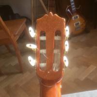 Gebroken kop van gitaar